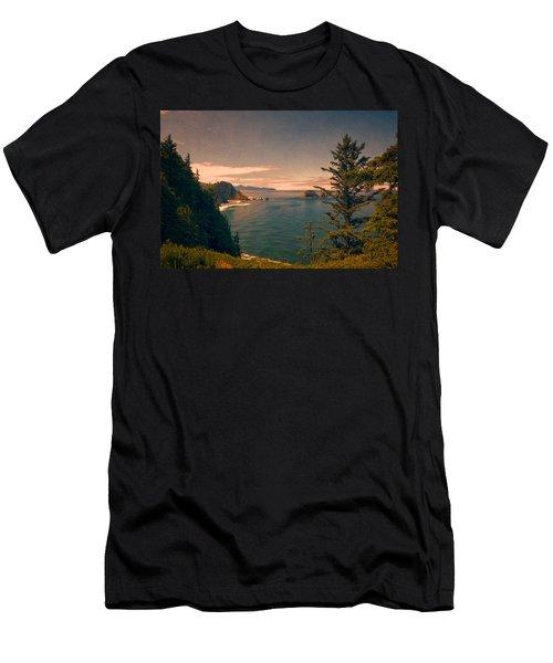 Three Arch Rocks National Wildlife Refuge Men's T-Shirt (Athletic Fit)