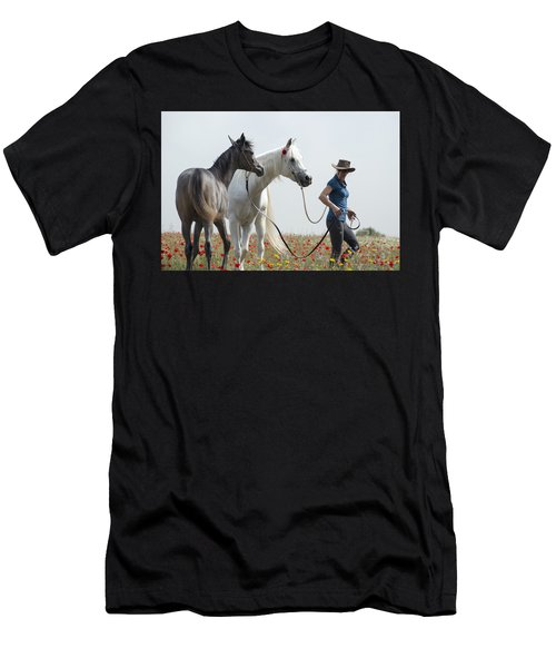 Three At The Poppies' Field... 1 Men's T-Shirt (Athletic Fit)