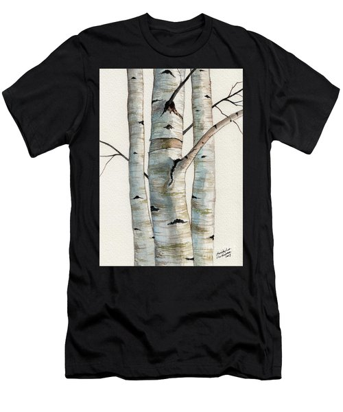 Three Birch Trees Men's T-Shirt (Athletic Fit)