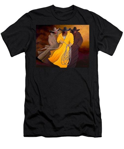 Three Cowboys Men's T-Shirt (Athletic Fit)