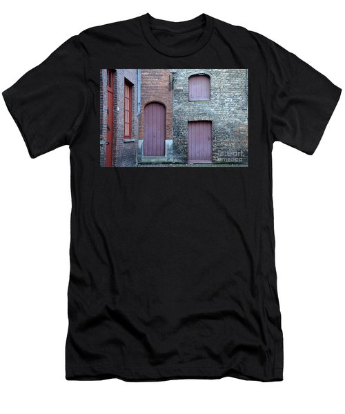 Three Doors And Two Windows Bruges, Belgium Men's T-Shirt (Athletic Fit)