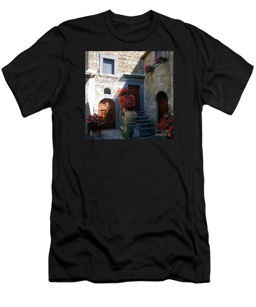 Three Doors In Bagnoregio Men's T-Shirt (Athletic Fit)