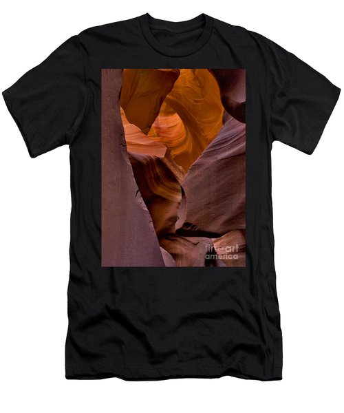 Men's T-Shirt (Athletic Fit) featuring the photograph Three Faces In Sandstone by Mae Wertz