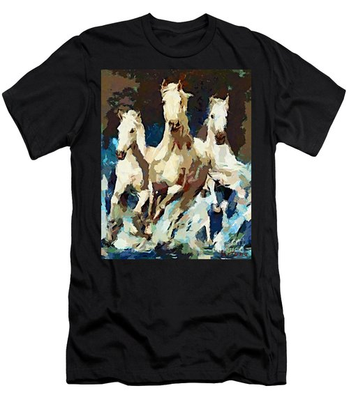Three Lipizzans Men's T-Shirt (Athletic Fit)