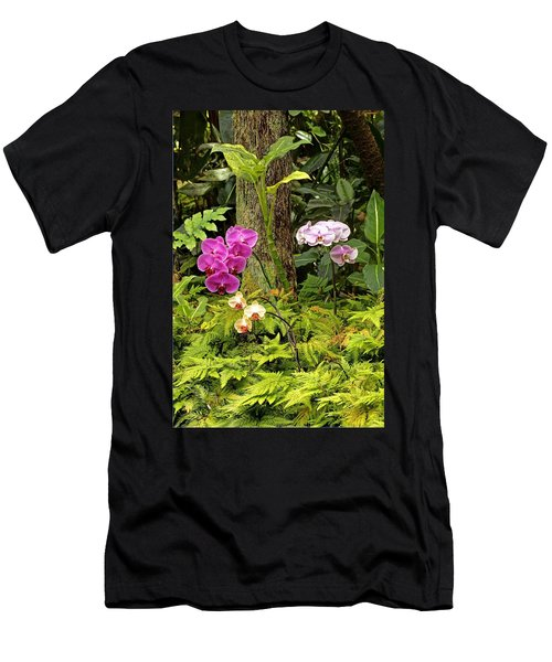 Three Orchid And A Tree Men's T-Shirt (Athletic Fit)