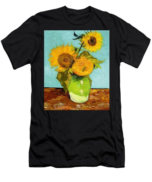 Three Sunflowers In A Vase Men's T-Shirt (Athletic Fit)