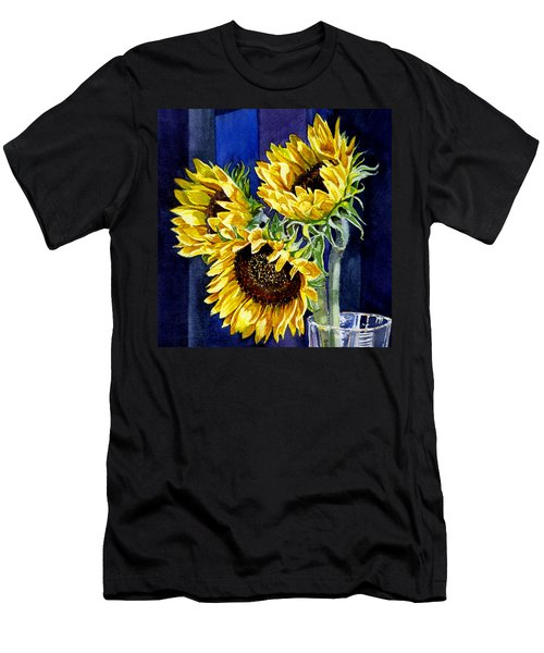 Three Sunny Flowers Men's T-Shirt (Athletic Fit)
