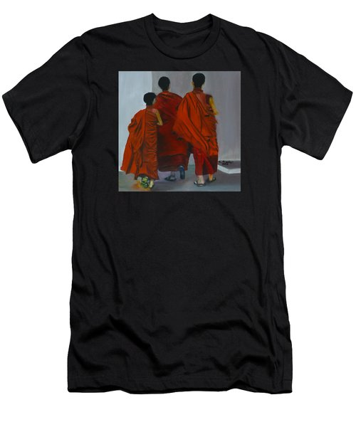 Three Young Monks Men's T-Shirt (Athletic Fit)