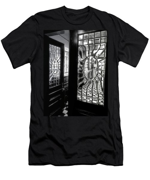 Through The Lookinglass And Onto The Checkerboard Men's T-Shirt (Slim Fit) by Robert McCubbin
