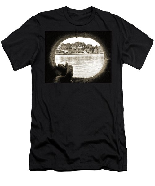 Through The Porthole Men's T-Shirt (Slim Fit) by Holly Blunkall