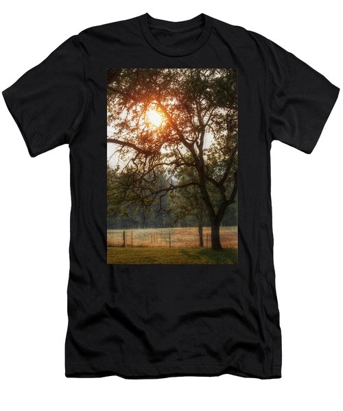 Men's T-Shirt (Slim Fit) featuring the photograph Through The Trees by Melanie Lankford Photography