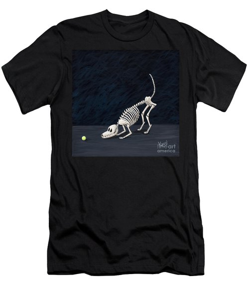 Throw The Ball Men's T-Shirt (Slim Fit) by Kerri Ertman