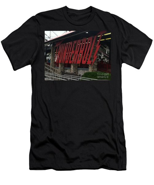 Thunderbolt Roller Coaster Men's T-Shirt (Athletic Fit)
