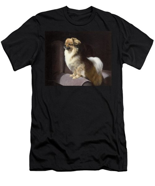 Tibetan Spaniel Painting Men's T-Shirt (Athletic Fit)