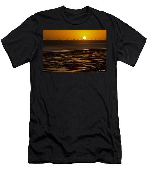 Tidal Pattern At Sunset Men's T-Shirt (Slim Fit) by Jeff Goulden