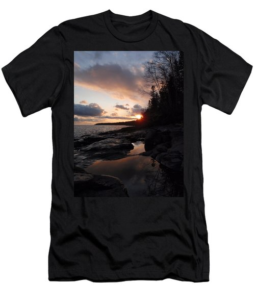 Tide Pool Reflections Men's T-Shirt (Athletic Fit)