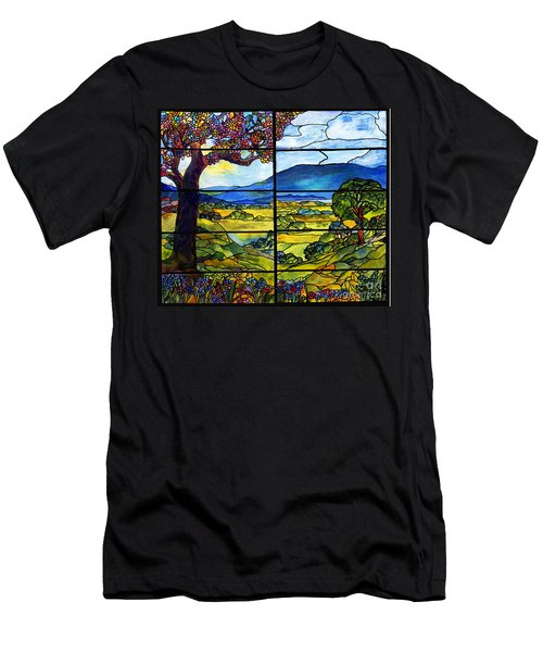 Tiffany Minnie Proctor Window Men's T-Shirt (Slim Fit) by Donna Walsh