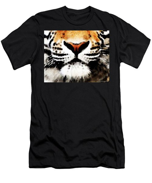 Tiger Art - Burning Bright Men's T-Shirt (Athletic Fit)