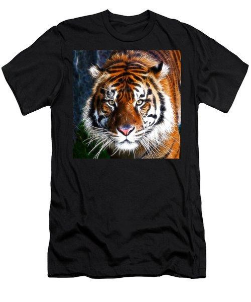 Tiger Close Up Men's T-Shirt (Slim Fit) by Steve McKinzie