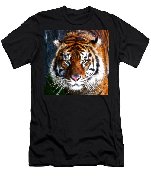 Tiger Close Up Men's T-Shirt (Athletic Fit)