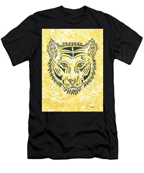 Men's T-Shirt (Slim Fit) featuring the painting Tiger Eye by Susie WEBER