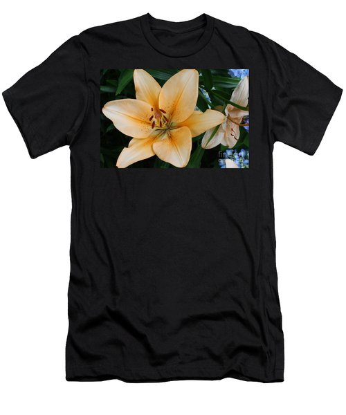 Men's T-Shirt (Slim Fit) featuring the photograph Tiger Lily by Dora Sofia Caputo Photographic Art and Design