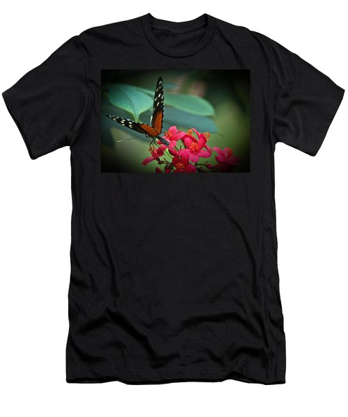 Tiger Longwing Butterfly Men's T-Shirt (Slim Fit)