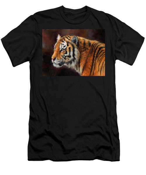 Tiger Portrait  Men's T-Shirt (Slim Fit)