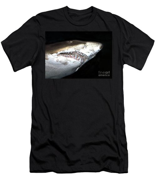 Men's T-Shirt (Slim Fit) featuring the photograph Tiger Shark by Sergey Lukashin