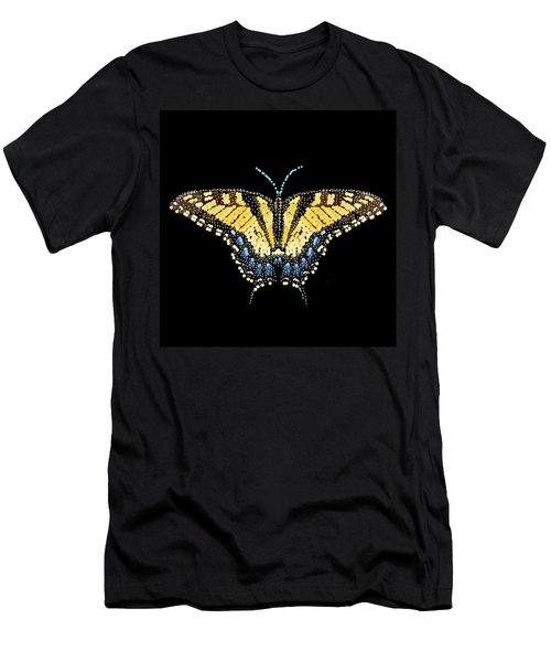 Tiger Swallowtail Butterfly Bedazzled Men's T-Shirt (Athletic Fit)