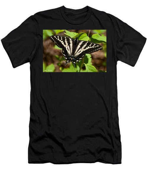 Tiger Swallowtail Butterfly Men's T-Shirt (Slim Fit) by Jeff Goulden