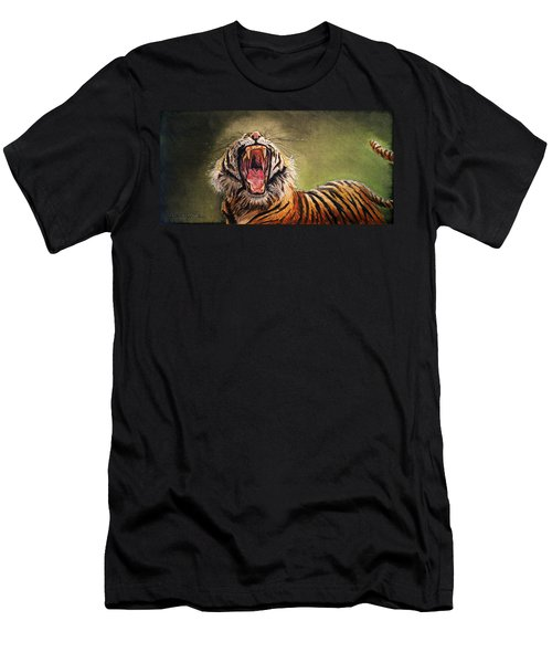 Tiger Yawn Men's T-Shirt (Athletic Fit)