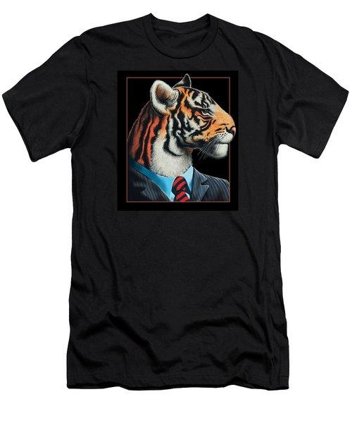 Men's T-Shirt (Slim Fit) featuring the digital art Tigerman by Scott Ross