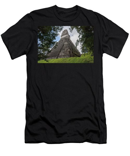 Tikal Pyramid 1b Men's T-Shirt (Athletic Fit)