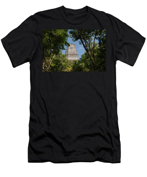 Tikal Pyramid 4b Men's T-Shirt (Athletic Fit)
