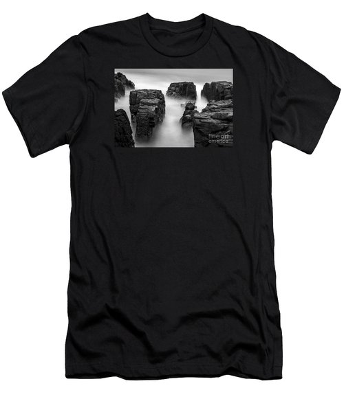 Men's T-Shirt (Slim Fit) featuring the photograph Time by Gunnar Orn Arnason