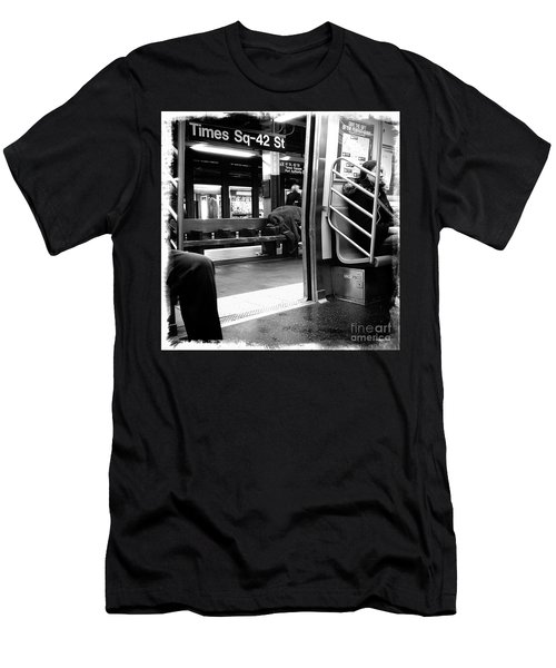 Times Square - 42nd St Men's T-Shirt (Slim Fit) by James Aiken