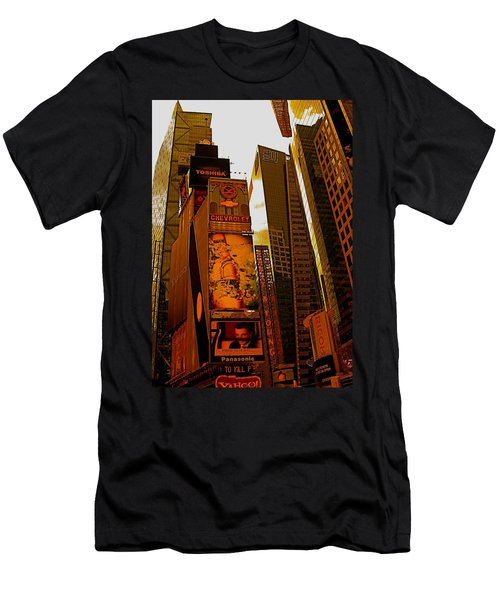 Times Square In Manhattan Men's T-Shirt (Athletic Fit)