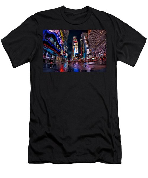 Times Square New York City The City That Never Sleeps Men's T-Shirt (Athletic Fit)