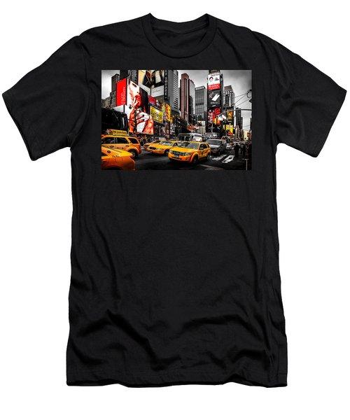 Times Square Taxis Men's T-Shirt (Slim Fit) by Az Jackson