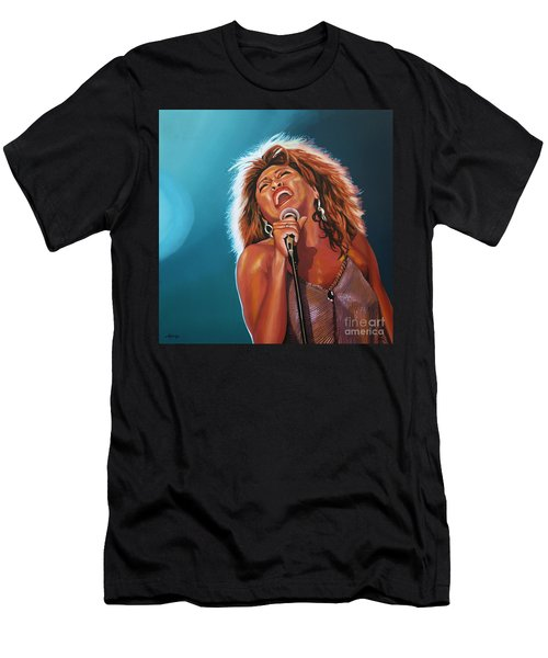 Tina Turner 3 Men's T-Shirt (Athletic Fit)