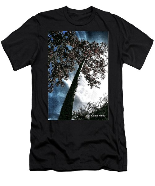 Men's T-Shirt (Slim Fit) featuring the photograph Tippy Top Tree II Art by Lesa Fine