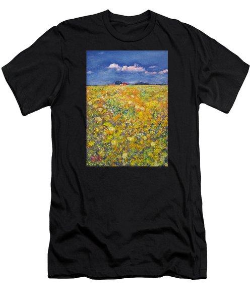tiptoe Through Summer Meadow Men's T-Shirt (Athletic Fit)