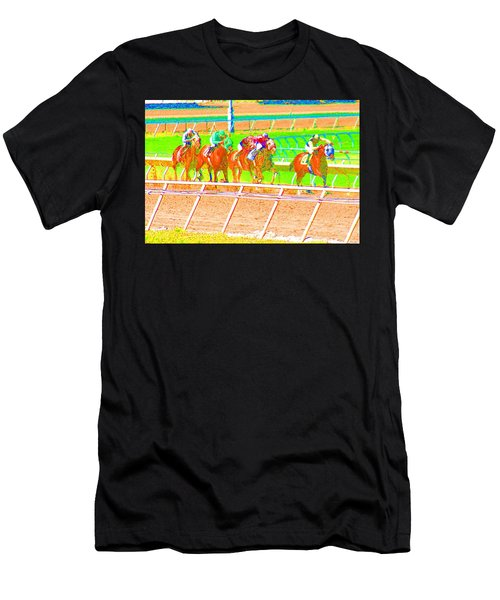 Men's T-Shirt (Athletic Fit) featuring the photograph To The Finish Line by Cynthia Marcopulos