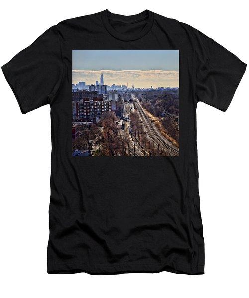 Men's T-Shirt (Slim Fit) featuring the photograph Toddlin' Chicago by John Hansen
