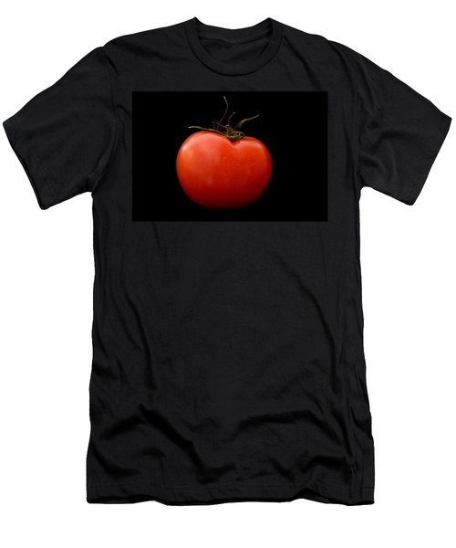 Tomato On Black Men's T-Shirt (Athletic Fit)