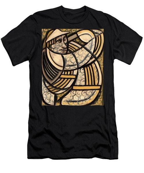 Tommervik Golf Swing Slice Art Print Men's T-Shirt (Athletic Fit)