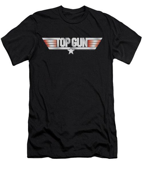 Top Gun - Logo Men's T-Shirt (Slim Fit) by Brand A
