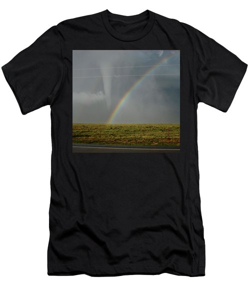 Tornado And The Rainbow Men's T-Shirt (Athletic Fit)