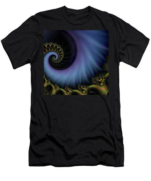 Men's T-Shirt (Slim Fit) featuring the digital art Tornado Dancers by Elizabeth McTaggart